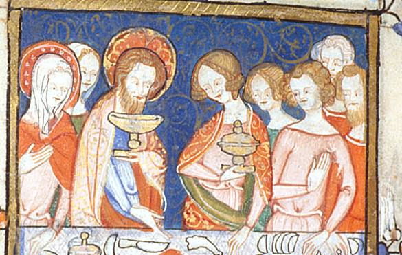 Miniature of the wedding at Cana.