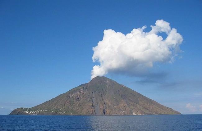 The Island of Stromboli, Shot 2004 Sep 28 by Steven W. Dengler.