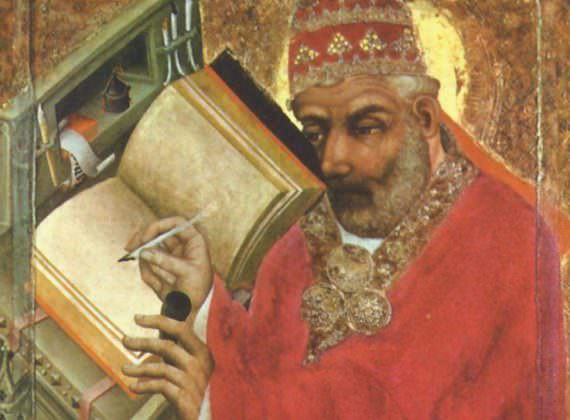 14th century painting of Pope Gregory the Great by TheorPrague