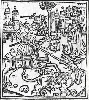 Woodcut frontispiece of Alexander Barclay, Lyfe of Seynt George (Westminster, 1515)