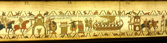 bayeux tapestry on display