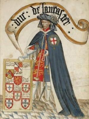 Henry of Grosmont, from the Bruges Garter Book (1430) by William Bruges