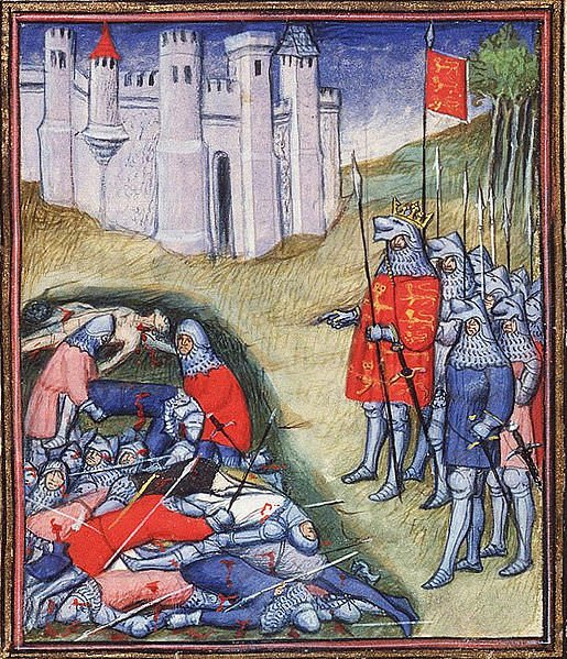 Who actually died at the Battle of Crecy?