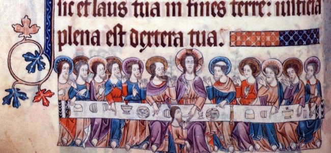 British Library - Additional 42130   f. 90v   The Last Supper