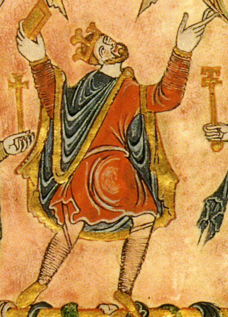 King Edgar I from the New Minster Charter, 966