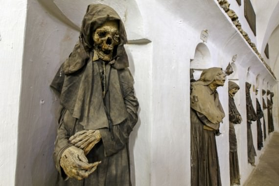 Oria, Italy - Mummified members of a confraternity of death. (thechirurgeonsapprentice.com)