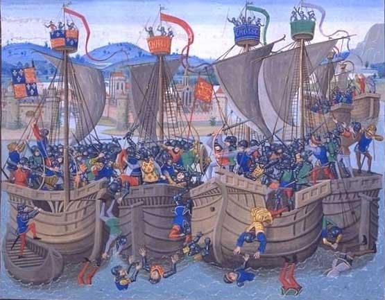 Medieval ships - Battle of Sluys