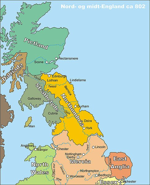 Northumbria in 802
