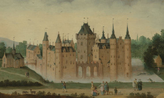 View of the castle of Egmond aan den Hoef - 17th century