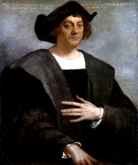 16th century painting of Christopher Columbus