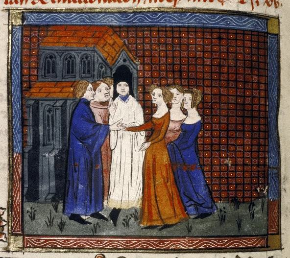 Wedding of Louis X of France and Clemance Hongrie (1315)