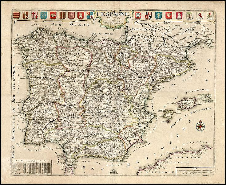 Map Of Spain 1700.Map Of Spain From 1700 Medievalists Net