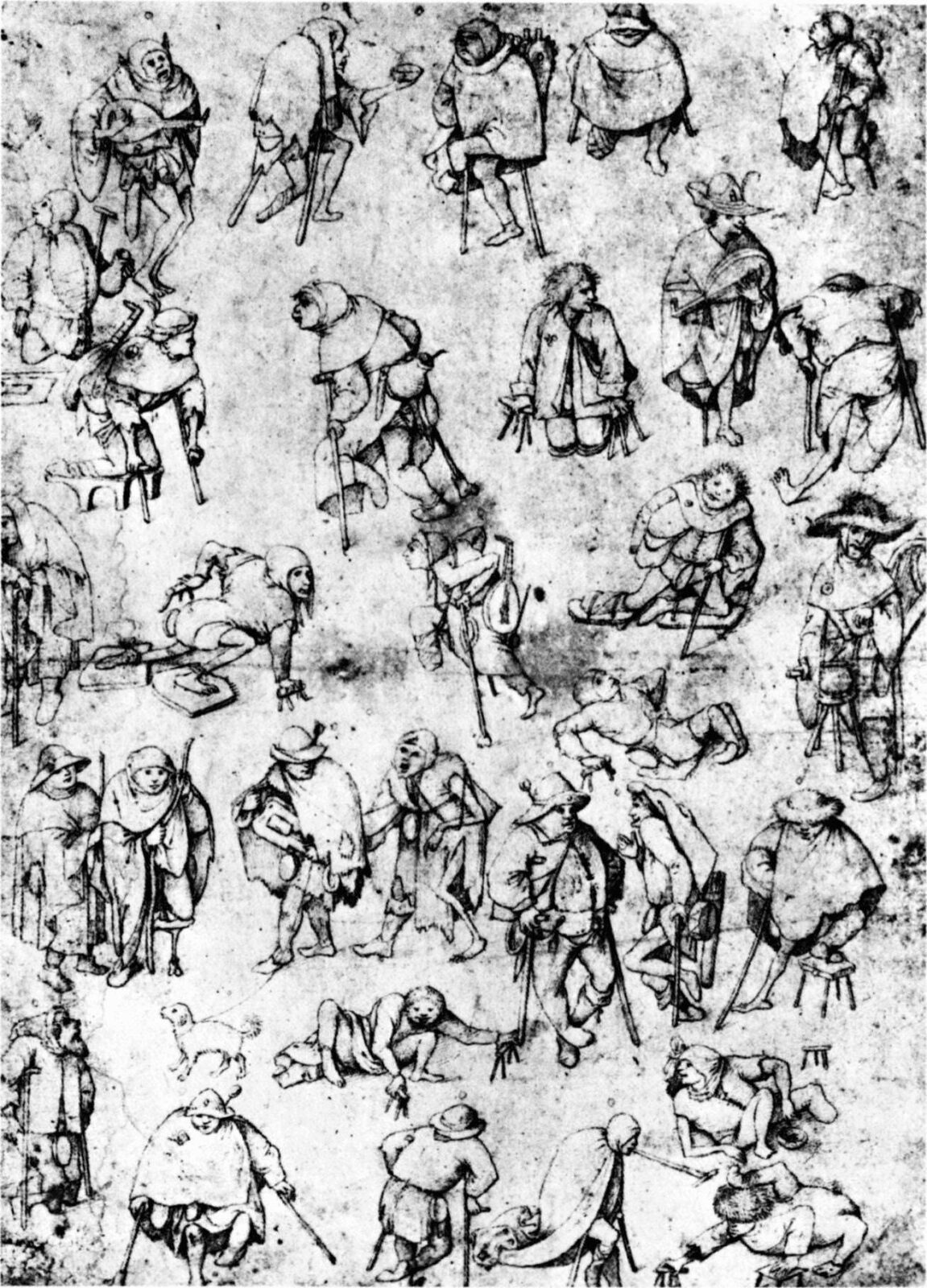 Hieronymus Bosch - Procession of Cripples