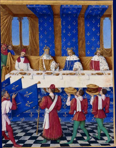 Medieval Food at Banquet