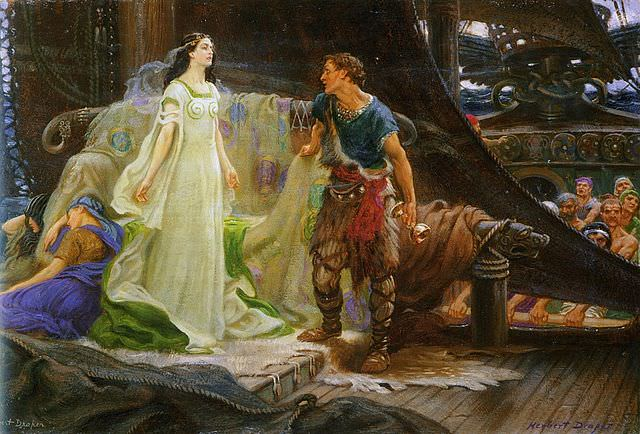 Tristan and Isolde - by Herbert James Draper