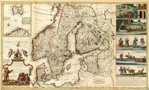 scandinavia old map
