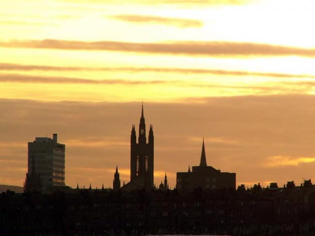 Skyline of Aberdeen, Scotland = photo by Badabee