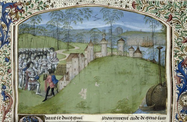 Jean de Wavrin - Anciennes et nouvelles chroniques d'Angleterre, Royal 15 E IV f.223
