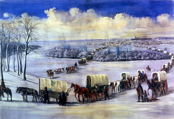 "Crossing the Mississippi on the Ice"" by C.C.A. Christensen"