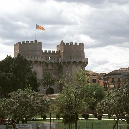 Torres de Serranos, Valencia, Spain. Photo by Medievalists.net