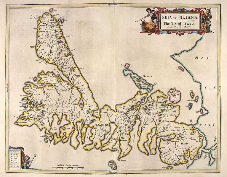 17th century map of the isle