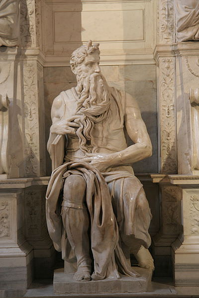 Michelangelo's Moses San Pietro in Vincoli - photo by Prasenberg