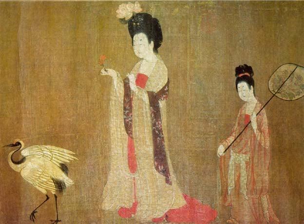 Beauties Wearing Flowers, by Zhou Fang, 8th century