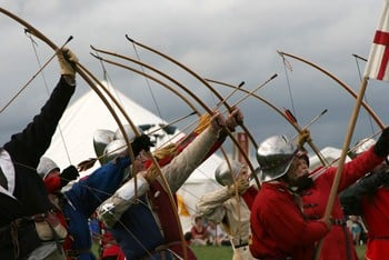Re-enactment to mark the 526th anniversary of the Battle of Bosworth
