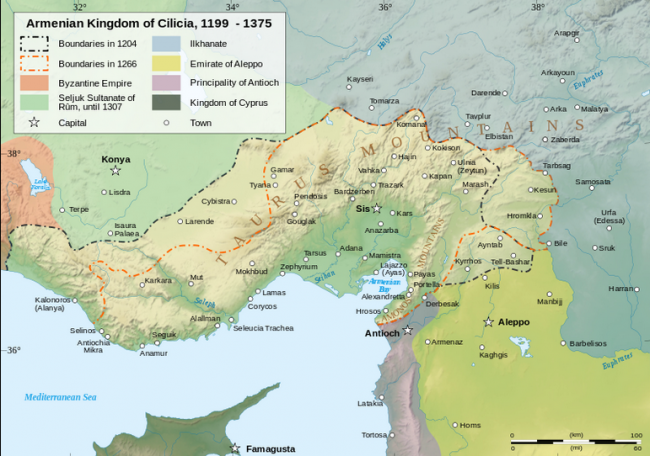 Armenian Kingdom of Cilicia - created by Sémhur / Wikimedia Commons