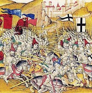 The battle of Tannenberg (Grunwald) in 1410