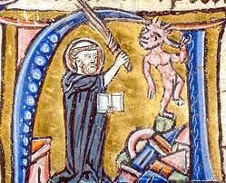 St. Augustine refuting a Manichean heretic