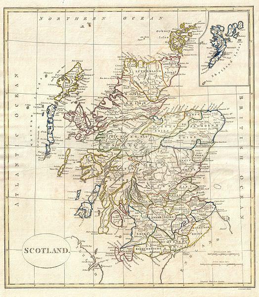 18th century map of Scotland
