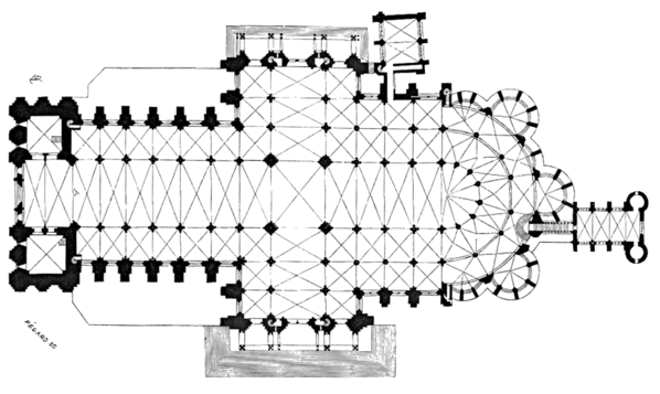 Chartres Cathedral Plan