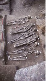 The excavation site at East Smithfield. Hendrik Poinar, an evolutionary geneticist at McMaster, has identified the bacteria responsible for causing the 1348 Black Death. Photo reproduced courtesy of the Museum of London
