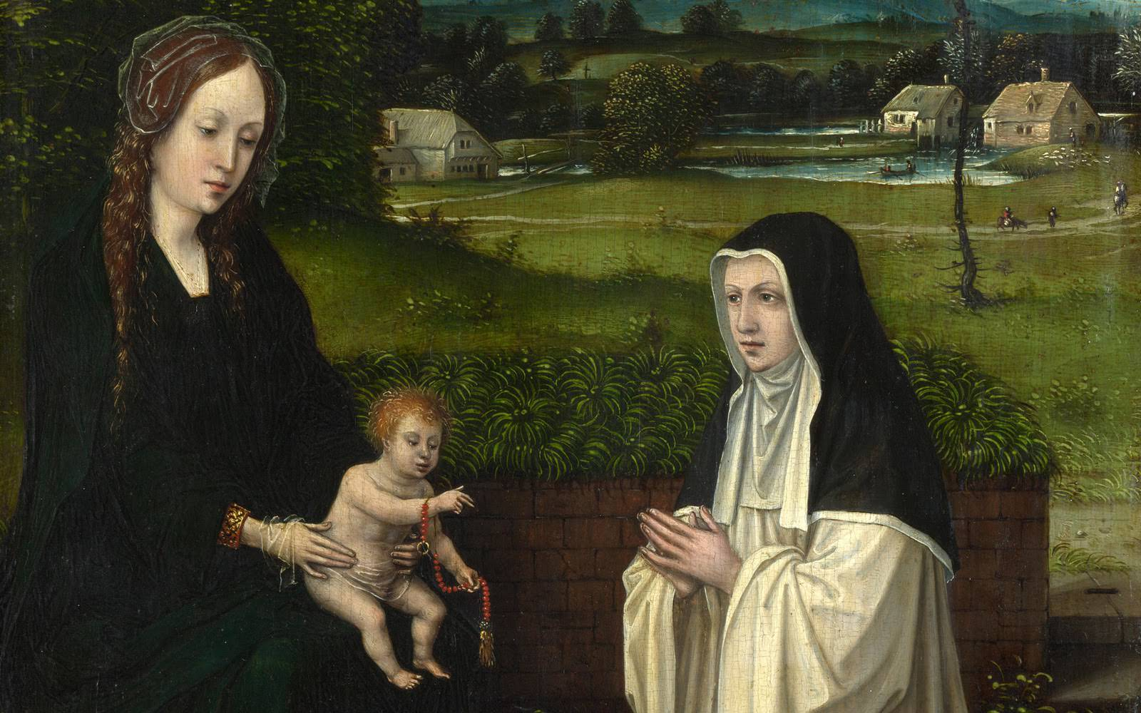 Virgin with Cistercian nun