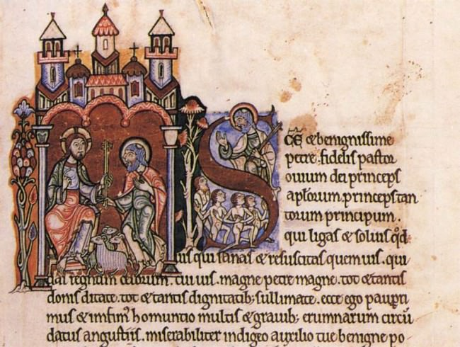 12th century illumination from the Meditations of St. Anselm.