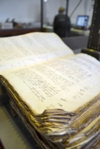 A court book from the church court at York - photo courtesy Borthwick Institute for Archives