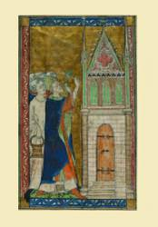 Christmas Cards with medieval images on sale from Bangor University