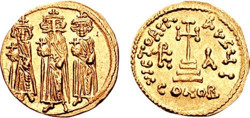 Solidus-Heraclius-Attribution: Classical Numismatic Group, Inc. http://www.cngcoins.com