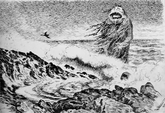 The Sea Troll, by  Theodor Kittelsen (1887)