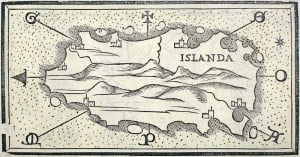 16th century map of Iceland