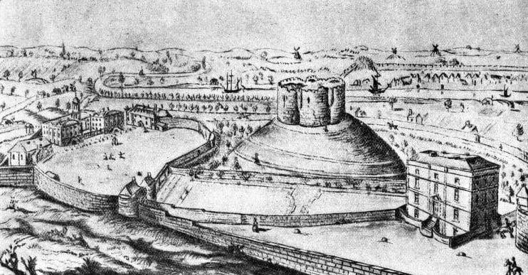 York Castle, seen in 1820