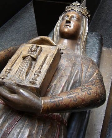 The funerary monument of Berengaria, wife of Richard the Lionheart, king of England, is installed in the Cistercian abbey of L'Epau