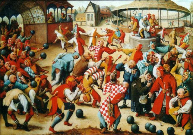 Feast of fools by Pieter Brueghel The Elder (16th century)
