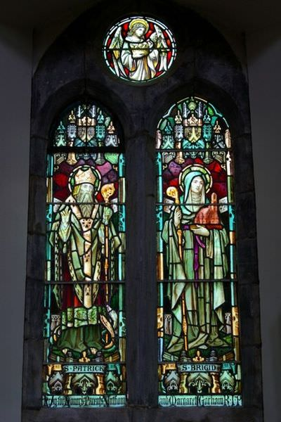 St. Patrick and St. Brigid - stained glass window