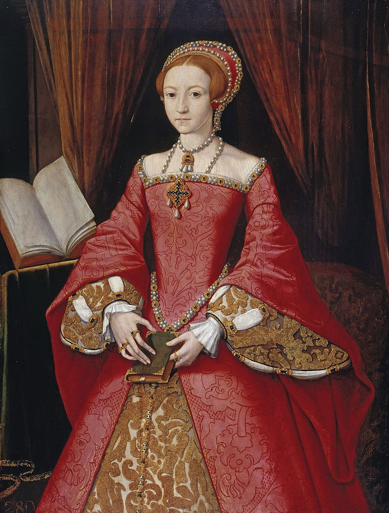 Elizabeth I, 1546, unknown artist. (Wikipedia)