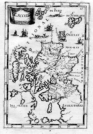 17th century map of Scotland