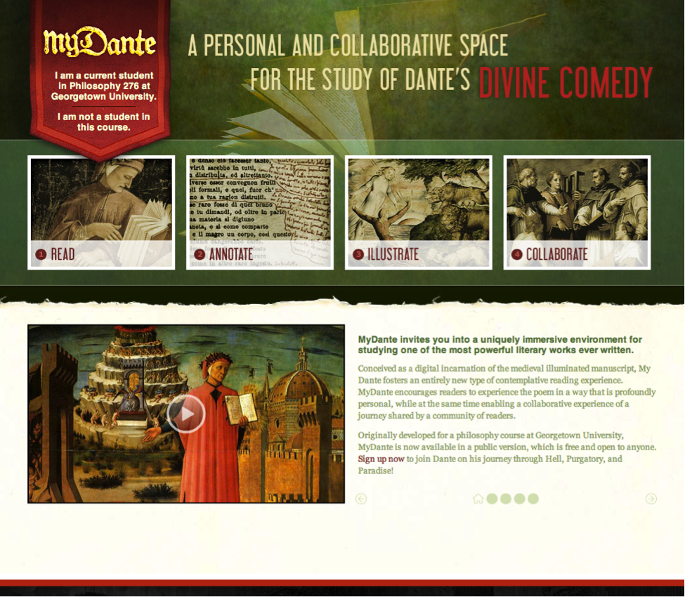 MyDante: An Online Environment for Contemplative and Collaborative Reading