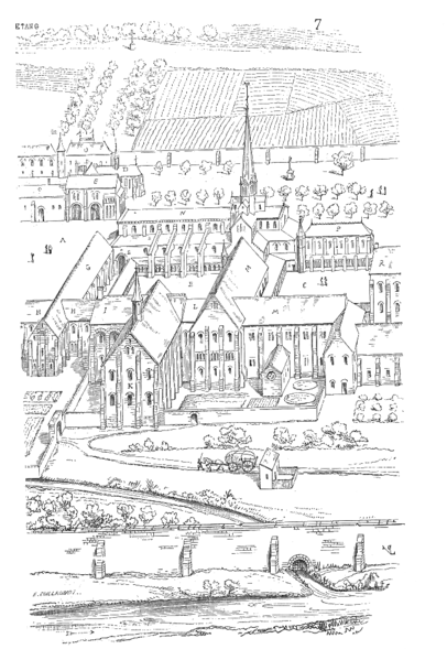 16th century view of Citeaux Abbey