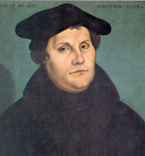 Martin Luther in 1533 by Lucas Cranach the Elder